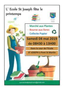 Marché aux plantes + bourse aux livre + collecte papier